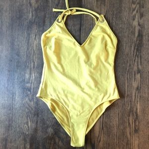 NWT Zara yellow bodysuit